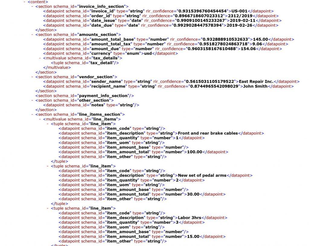 i2B AI AP automation XML